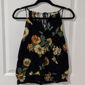2/$10 Black Swan Floral Top